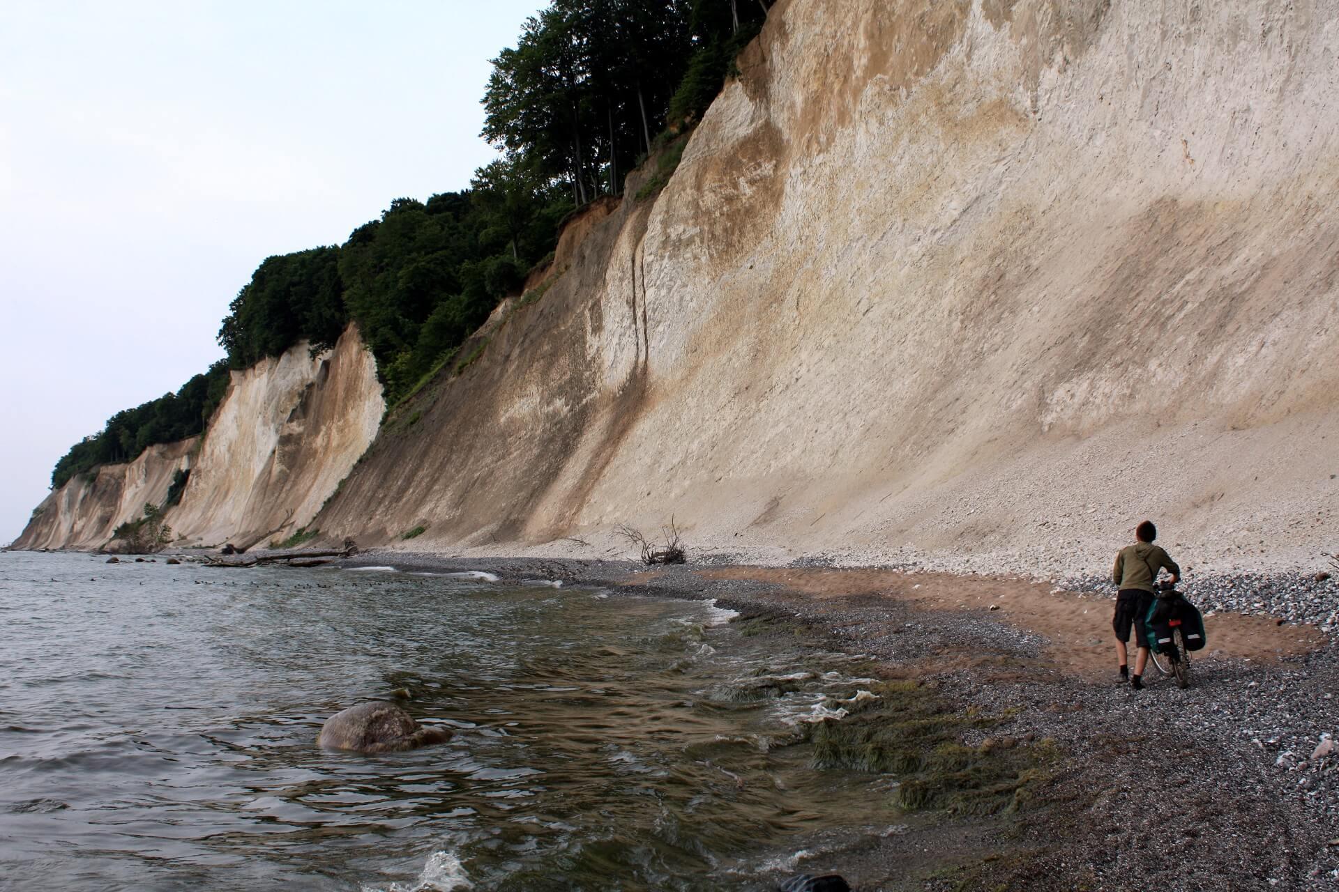 Klify wParku Narodowym Jasmund nawyspie Rugia