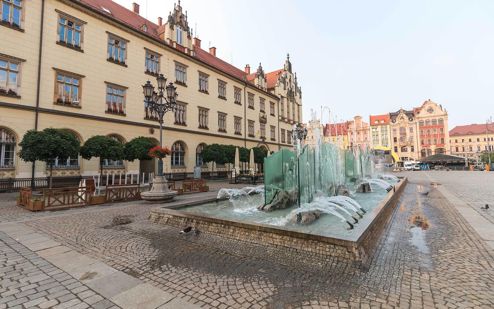 Fontanna narynku weWrocławiu