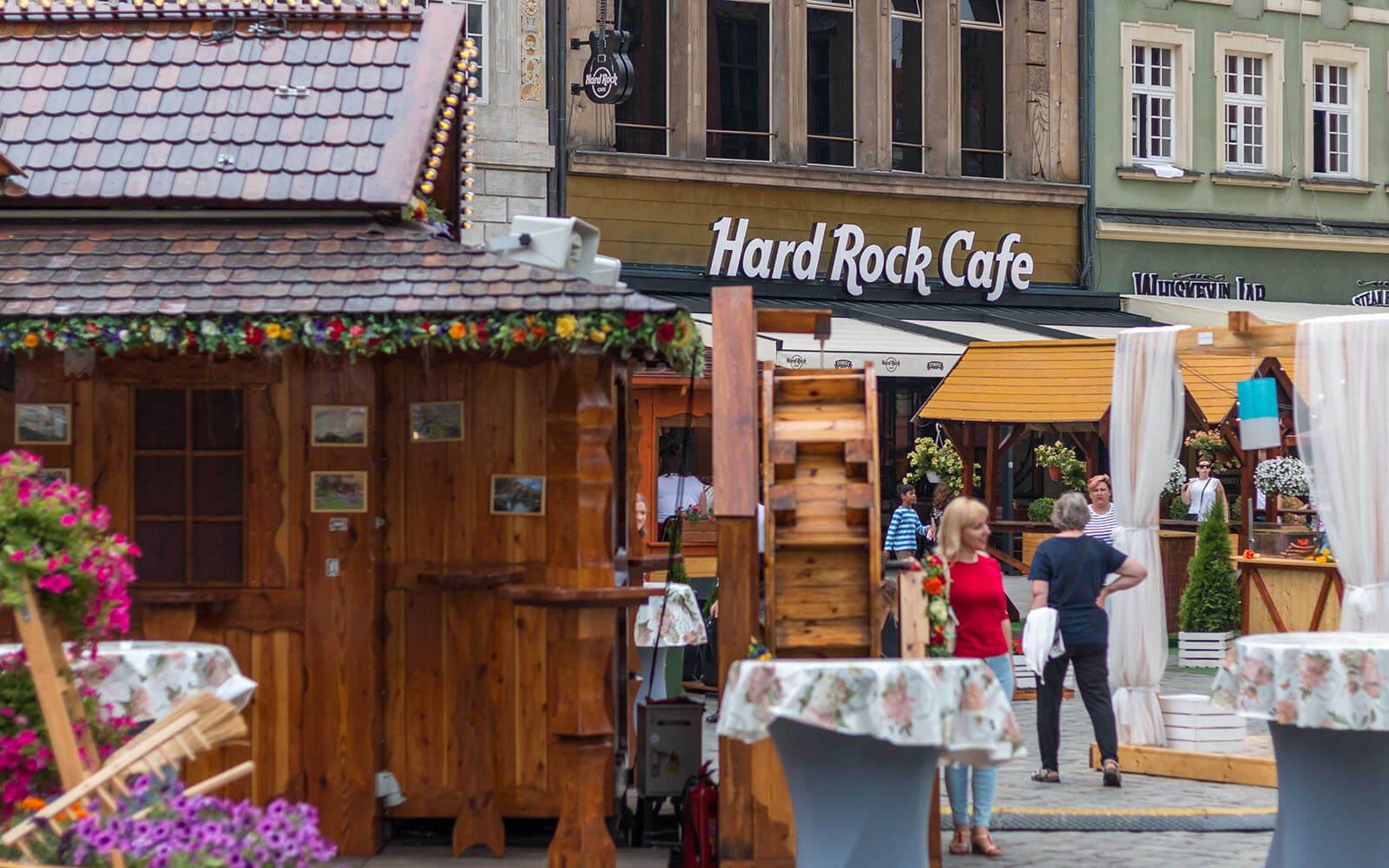 Hard Rock Cafe naWrocławskim rynku
