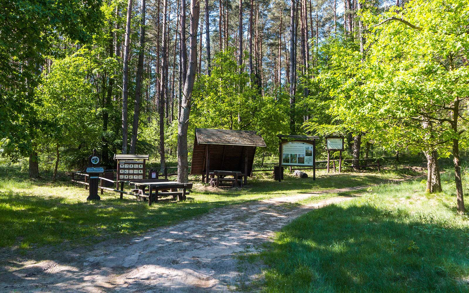Droga rowerowa wDrawskim Parku Krajobrazowym