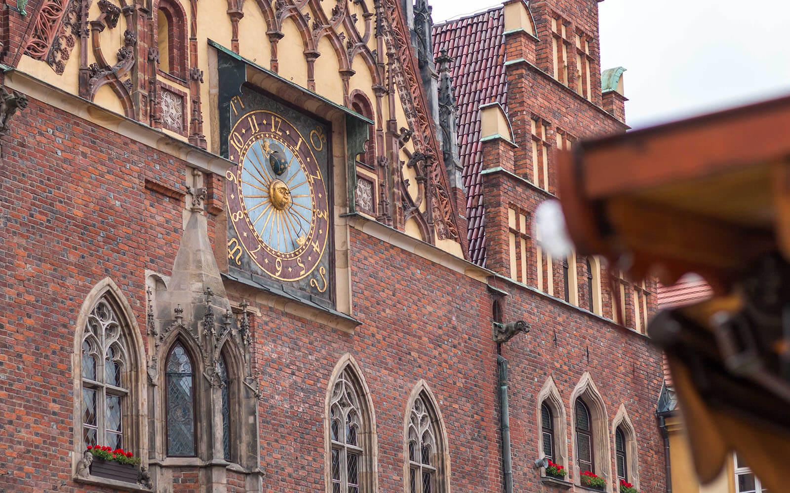Zegar naWrocławskim ratuszu