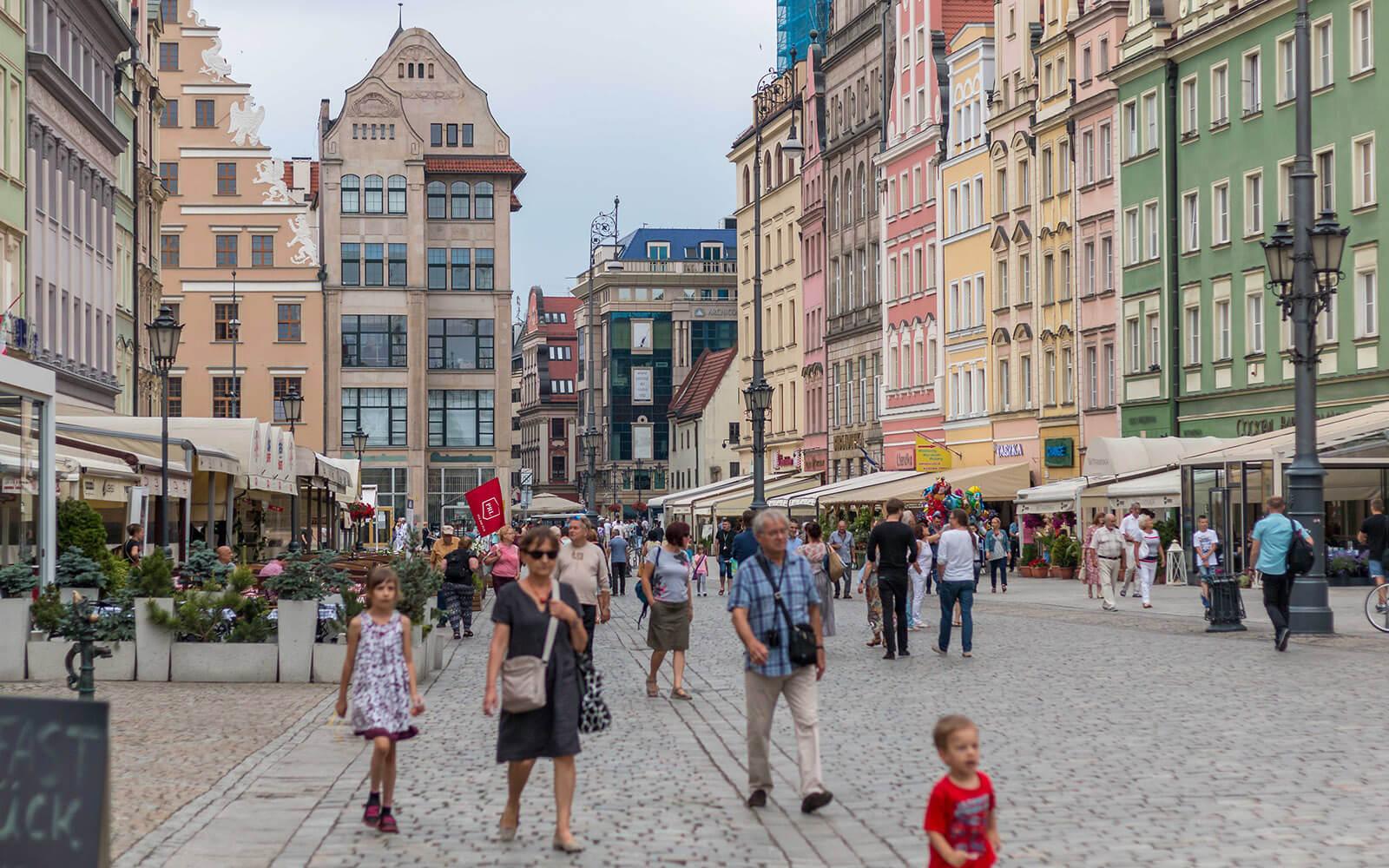 Turyści naWrocławskiej starówce