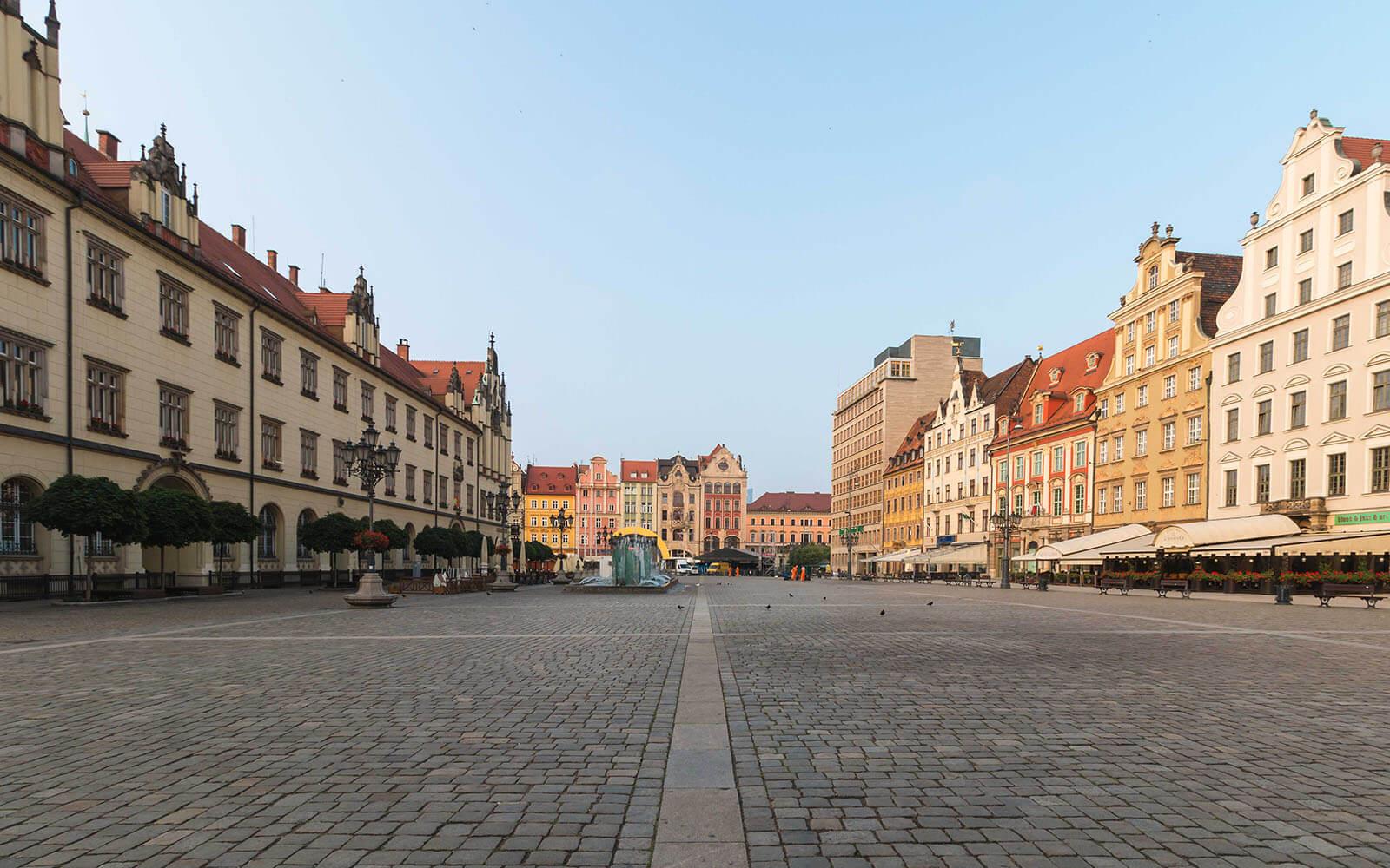 Ujęcie nacały rynek weWrocławiu