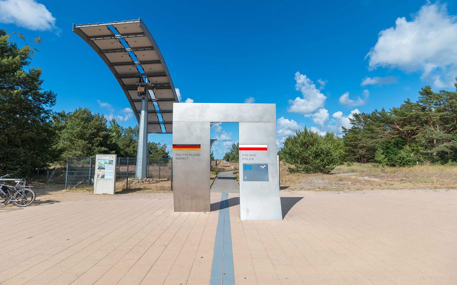 Świnoujście granica polsko niemiecka itrasa rowerowa