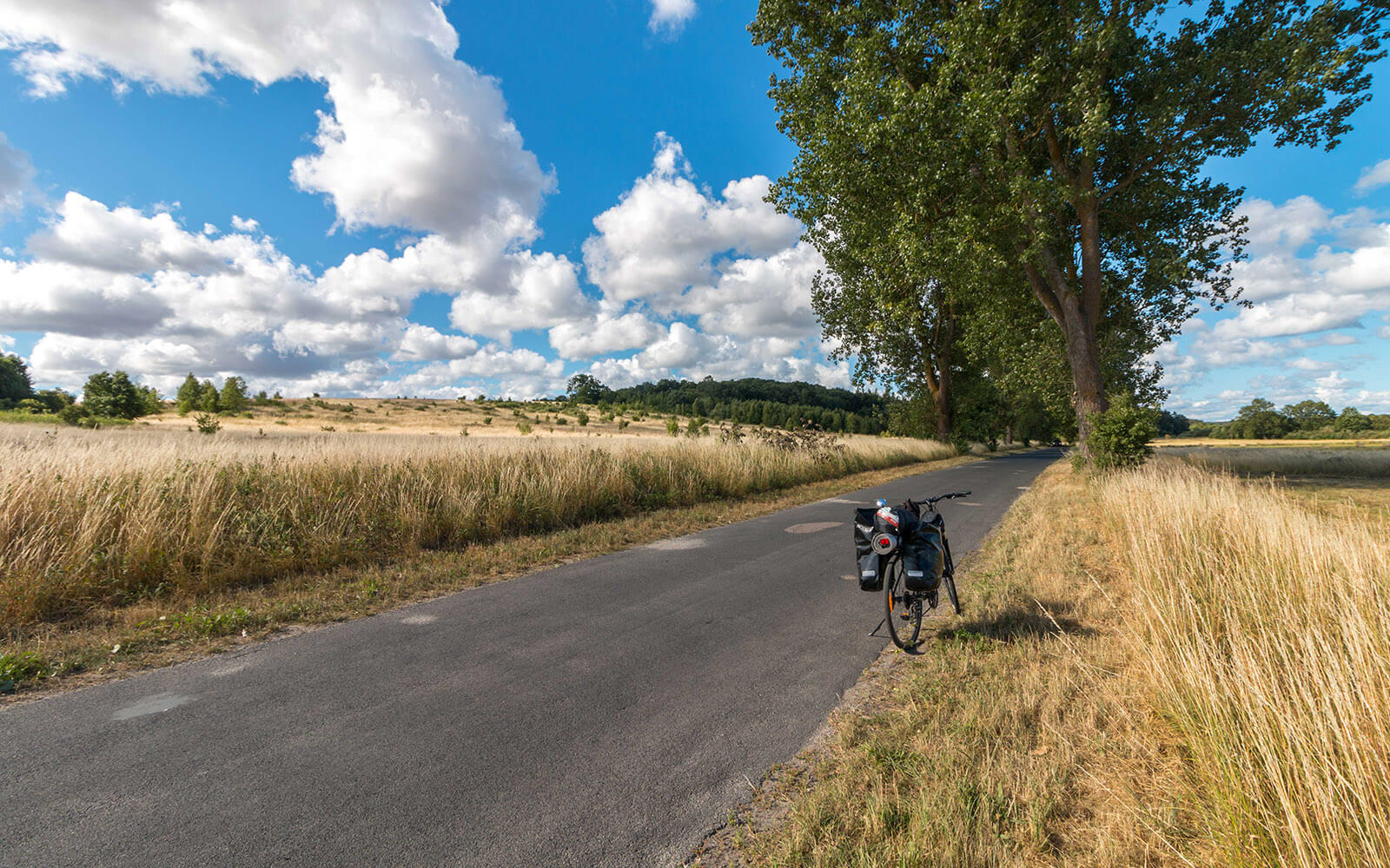 Podróż rowerowa powyspie wolin krajobraz