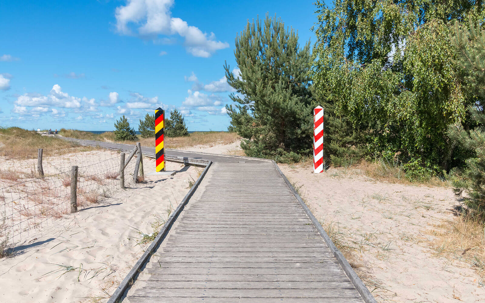 Transgraniczna promenada polsko niemiecka nawyspie wolin