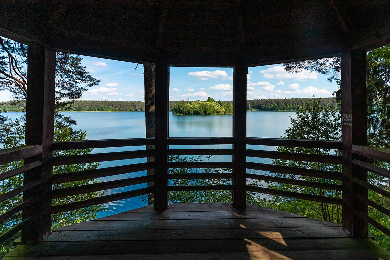 Platforma widokowa wdrawienskim parku narodowym