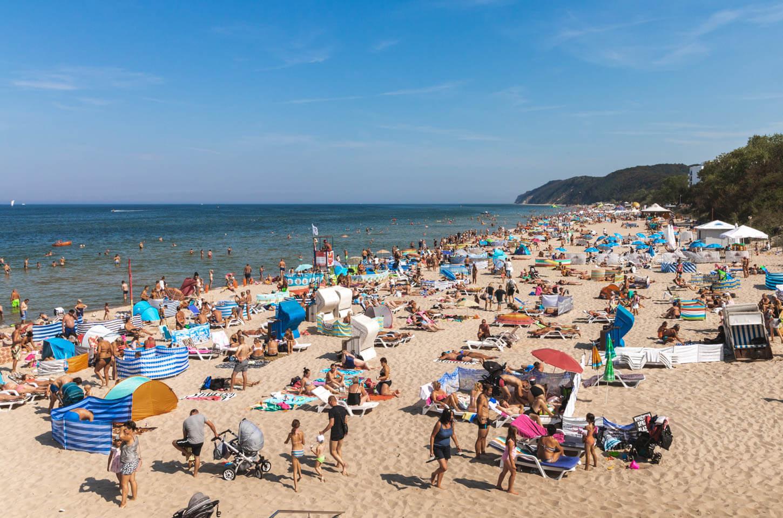 Plaża wMiędzyzdrojach