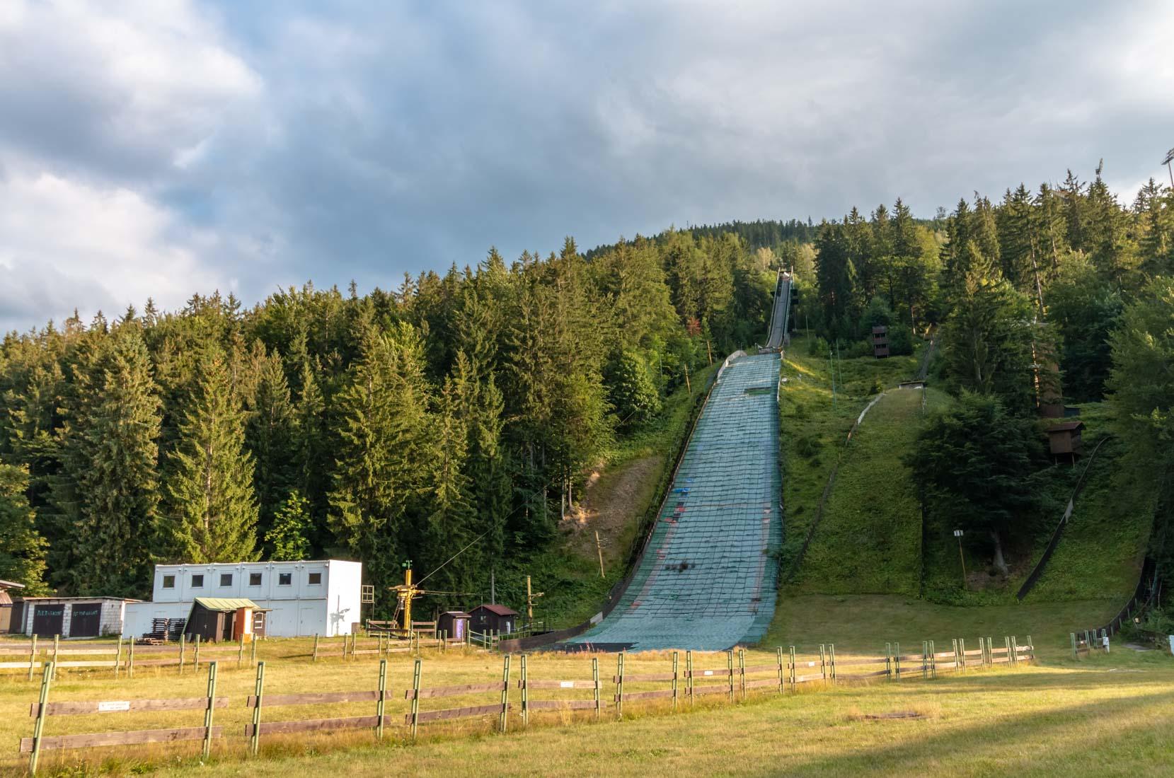 skocznia narciarska wHarrachov