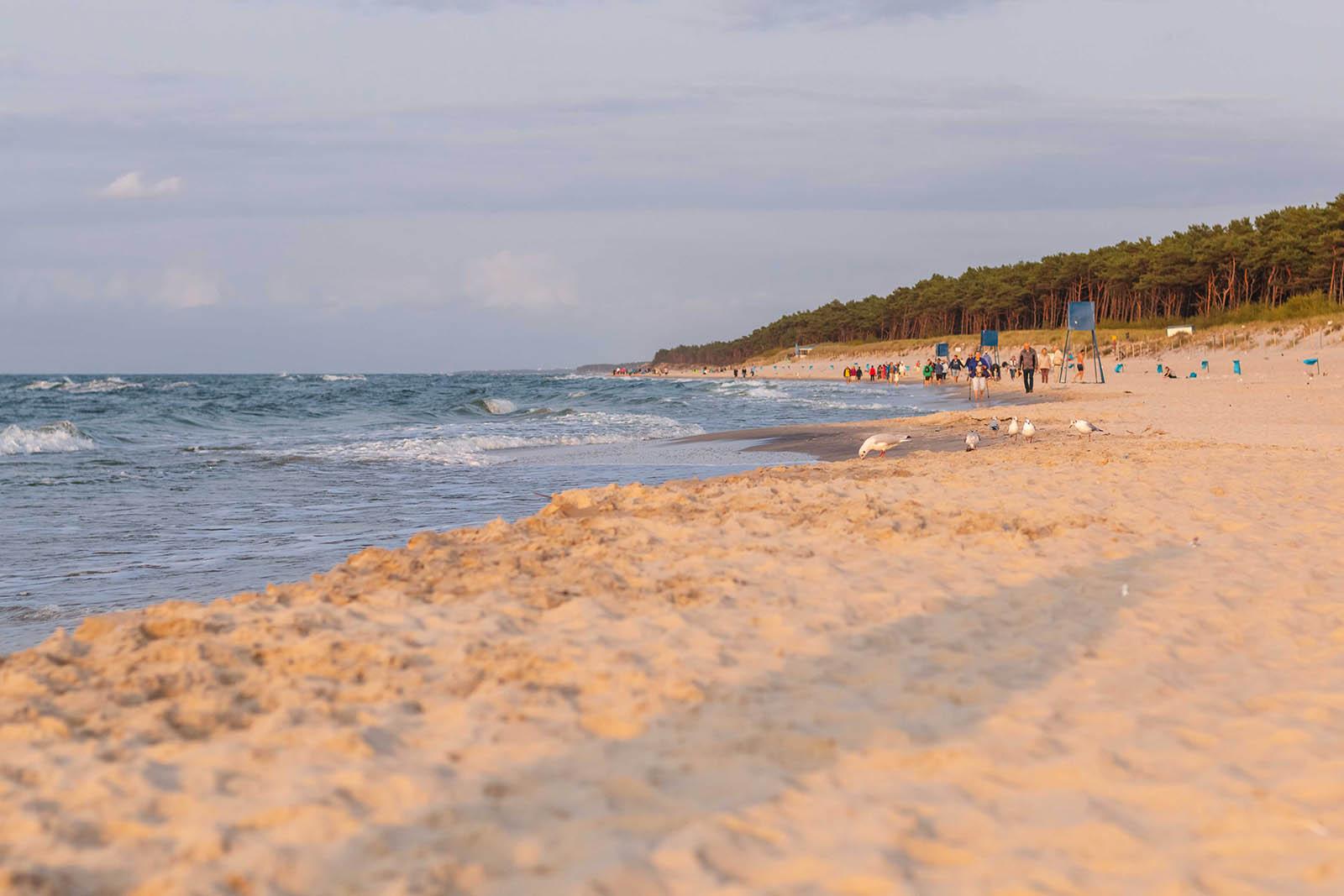 Plaża miejsca wMrzeżynie
