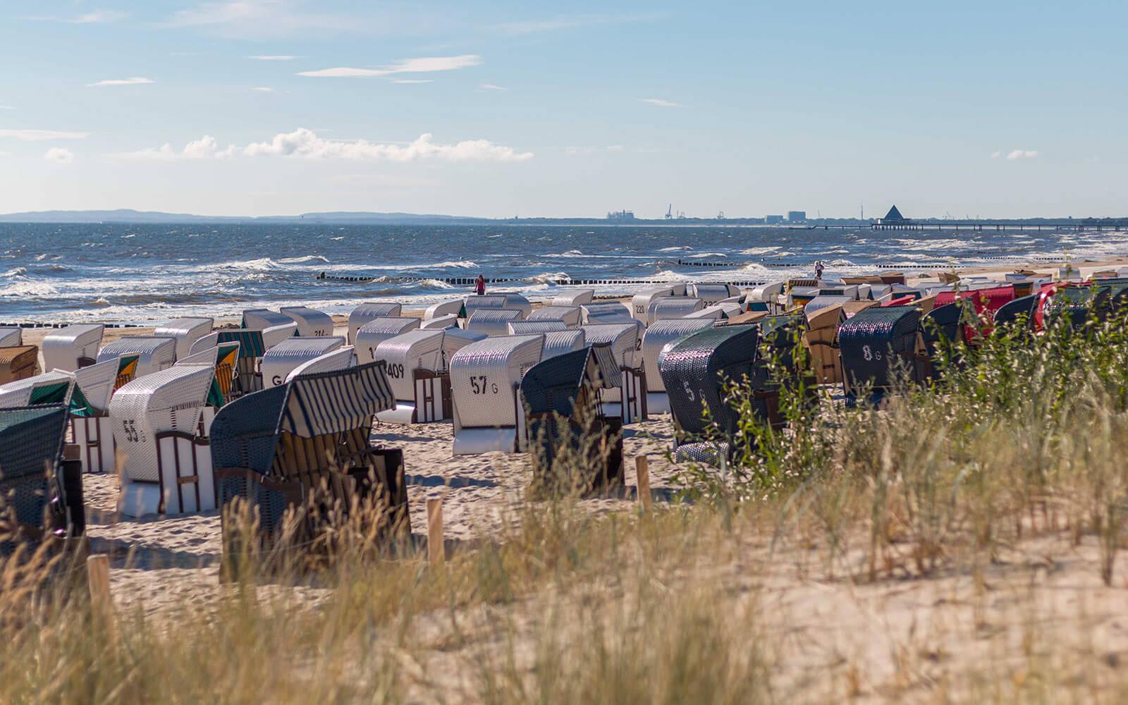 Plaża wmiejscowości Ahlbeck nawyspie Uznam