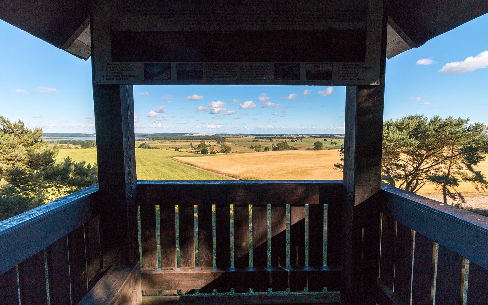 Punkt widokowy nawyspie uznam między Usedom aBenz